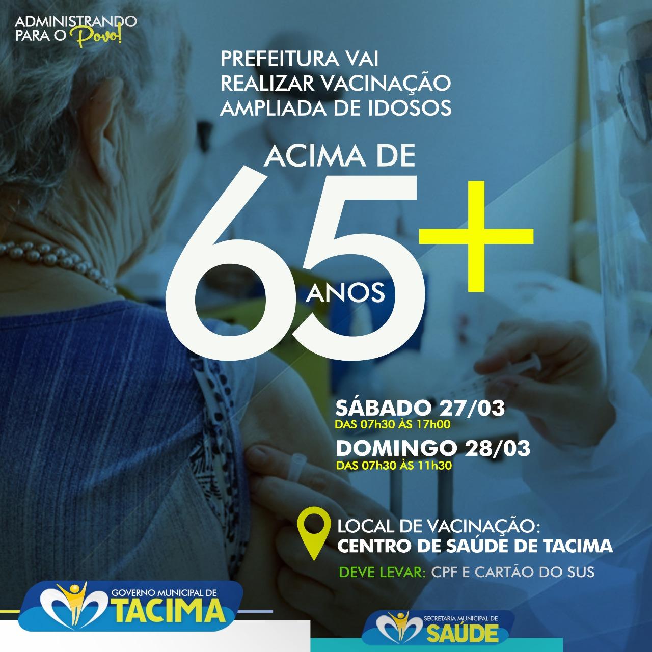 AVANÇO NO PLANO DE VACINAÇÃO CONTRA A COVID-19 EM TACIMA!