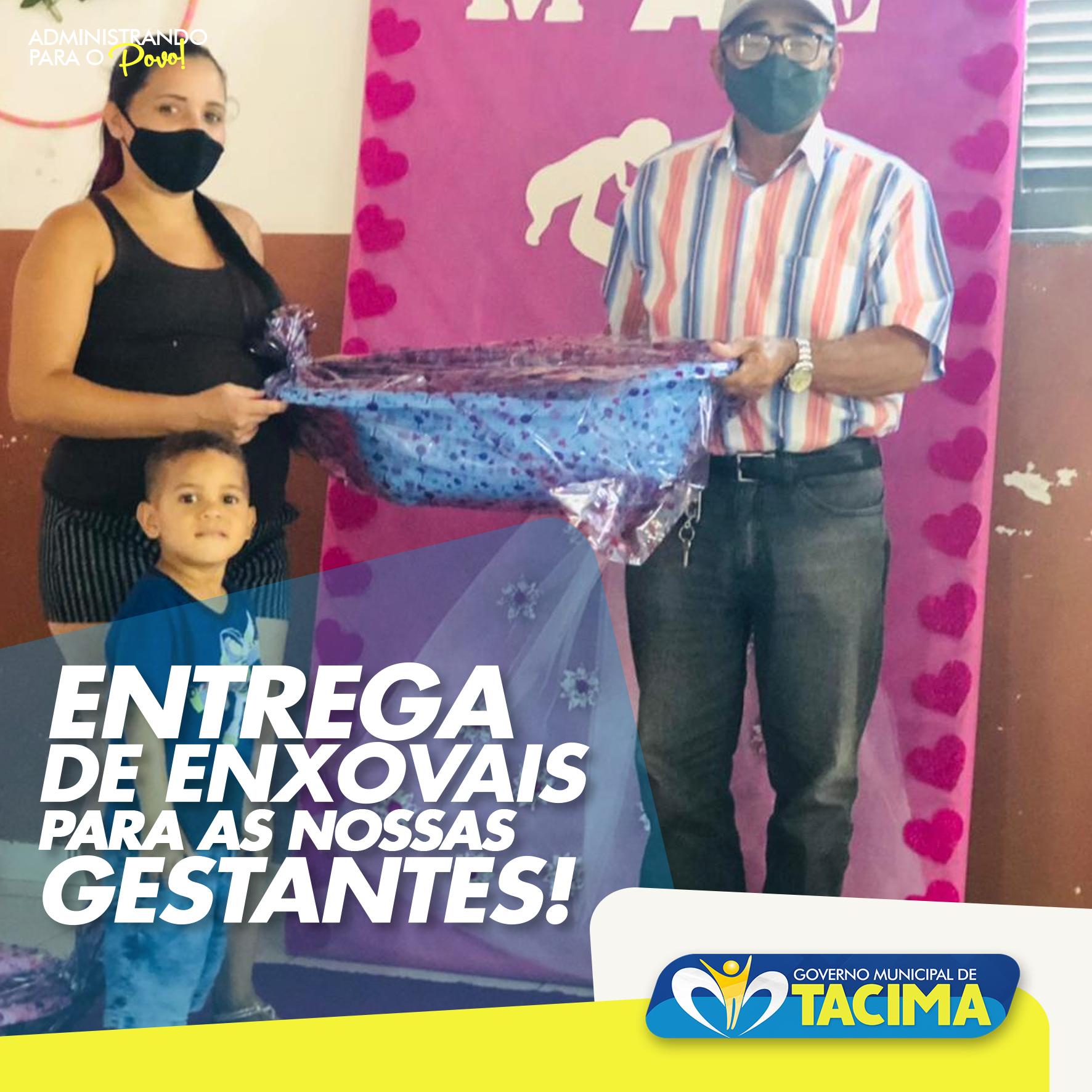 PREFEITURA ENTREGA KITS DE ENXOVAL PARA GESTANTES DE TACIMA. CONFIRA!