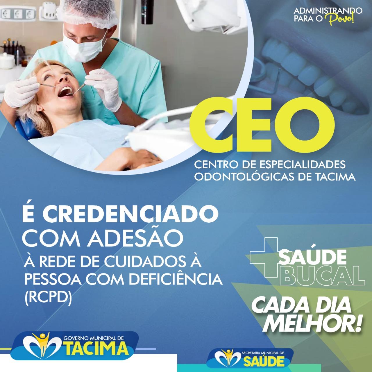 Em Tacima-PB: Centro de Especialidades Odontológicas (CEO) ganha acesso à Rede de Cuidados à Pessoa com Deficiência (RCPD. Saiba mais!